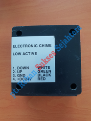 Electric Chime Bell Black Hyundai Elevator (Board WJE-0619)